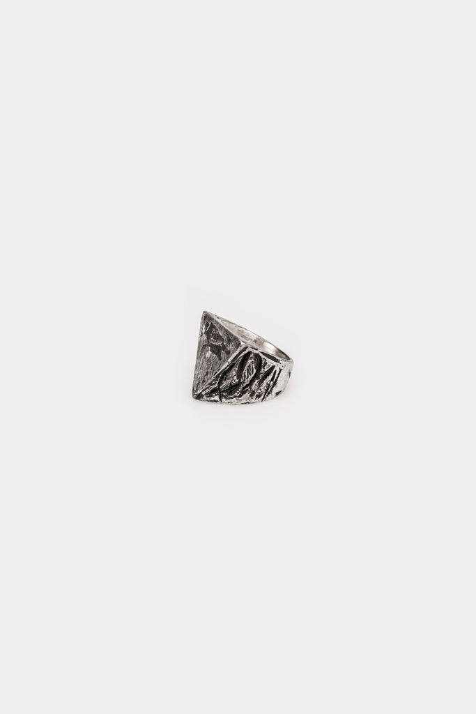 Triangle signet silver ring