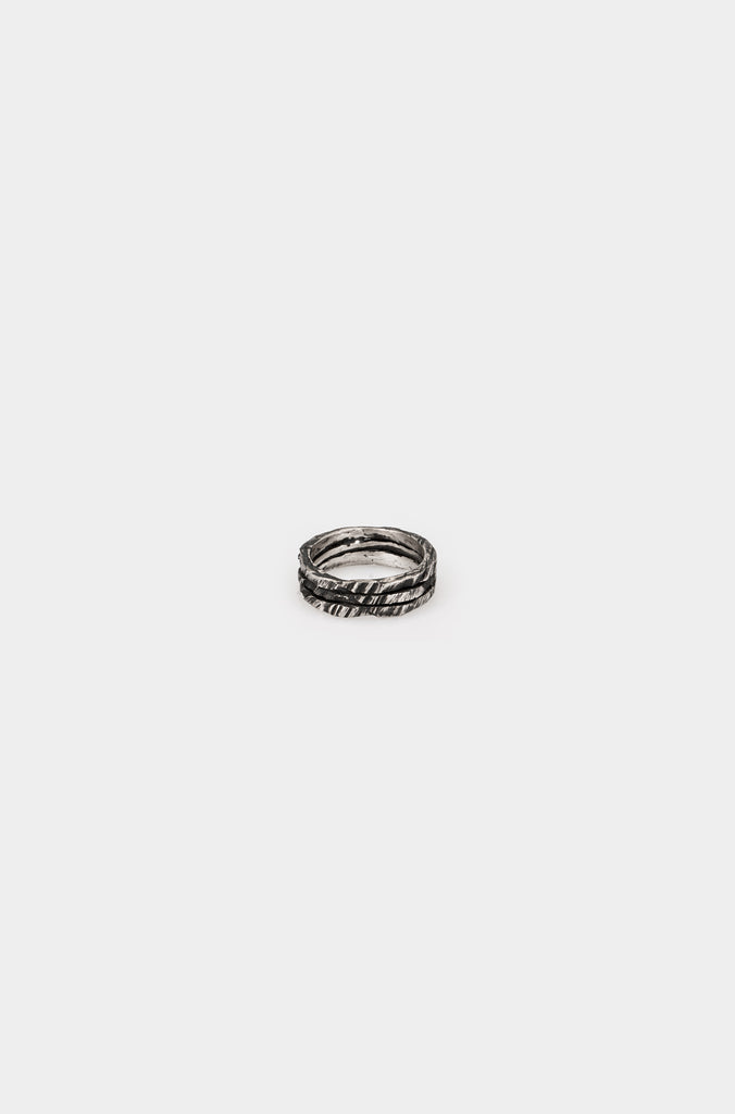 Tripple crack silver ring