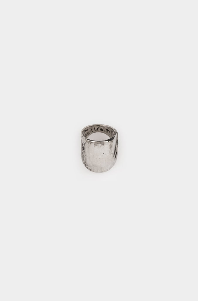 Oxidised Cannibal silver ring