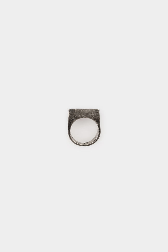 Oxidised Principe silver ring