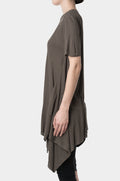 FIRST AID TO THE INJURED - Women's Front drape rib tee, Grey