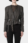 Pre-owned - Acne Studios | Cropped belted metal thread jacket