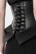 Pettycoat laser cut leather corset