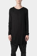 Darted long sleeve tee, Black