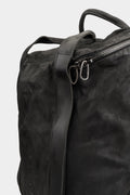 Daniele Basta | Silver stapled leather backpack / shopper