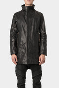 Daniele Basta | Long leather jacket