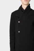 10SEI0OTTO | Asymmetrical high neck wool coat