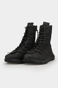 Puro | High top laced leather sneakers