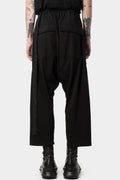 Cropped oversized drawstring pants, RN (Lightweight jersey)