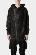 _Julius | Asymmetrical zip coated hood sweater