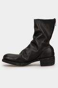 Back zip leather boots | 788Z