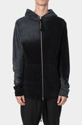 THOM KROM - Faded frotte zip sweater