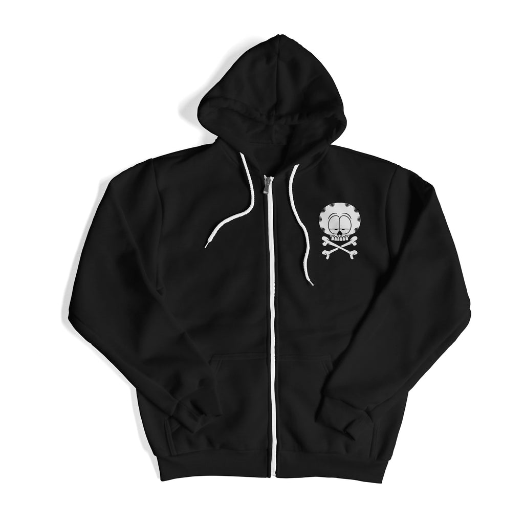 """DEATH BY MONDAYS"" ZIP HOODIE"