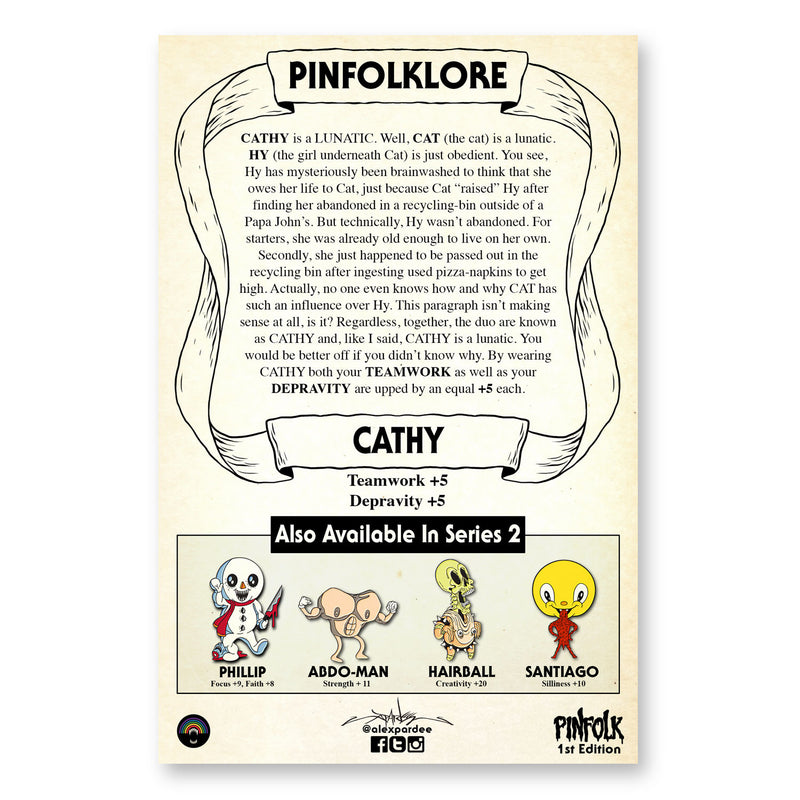 """PINFOLK: CATHY"" PIN"