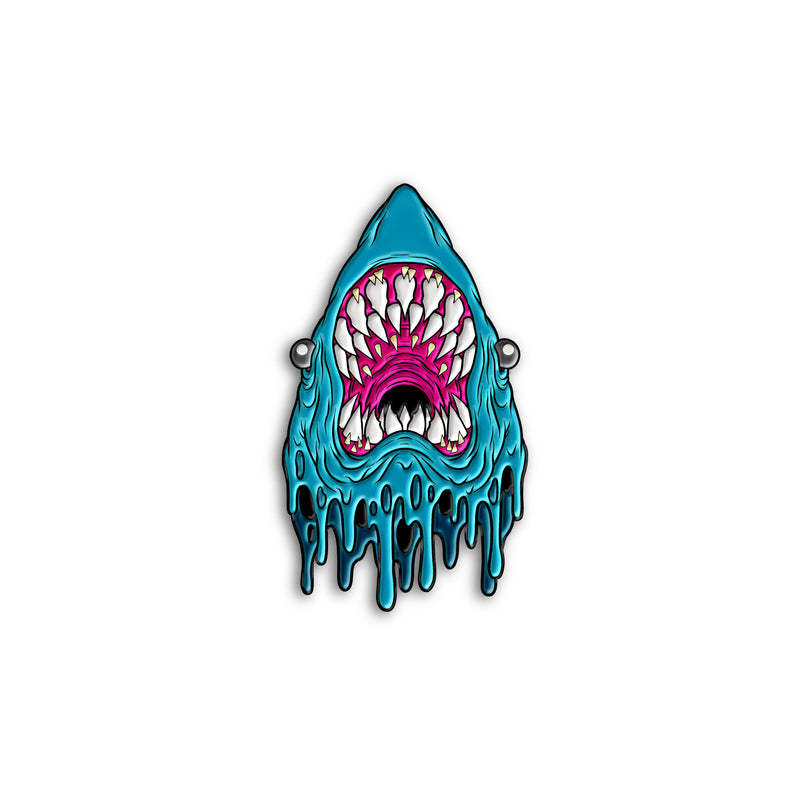 """GREAT WHITE"" PIN - BLUE EDITION"