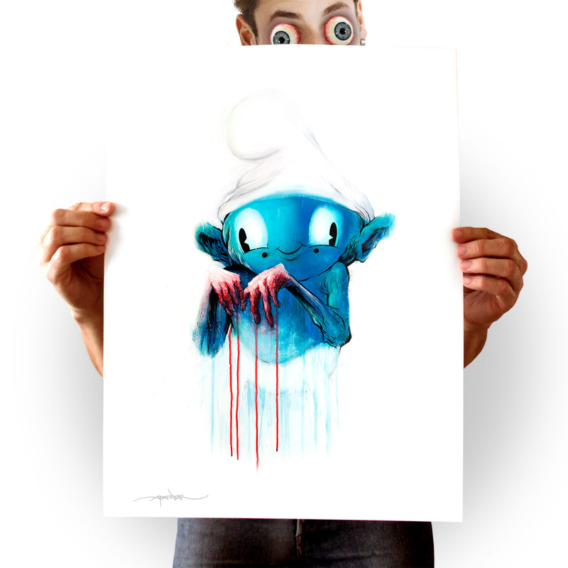 """GUILTY SMURF"" 16x20 PRINT"
