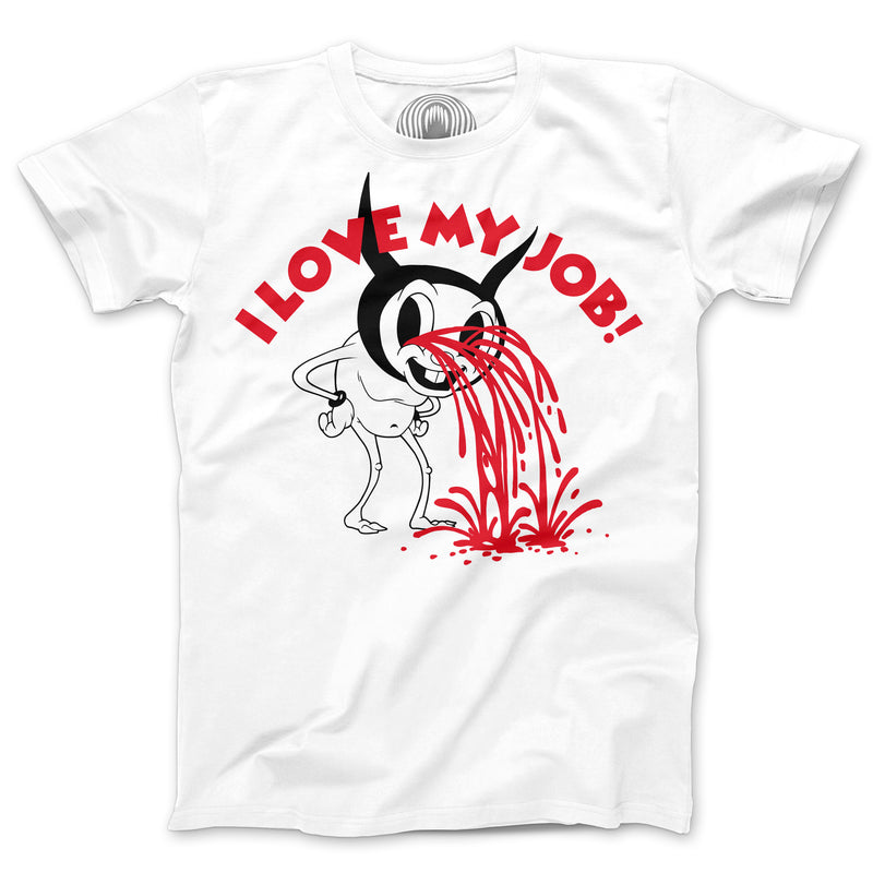 """I LOVE MY JOB"" WHITE T-SHIRT"