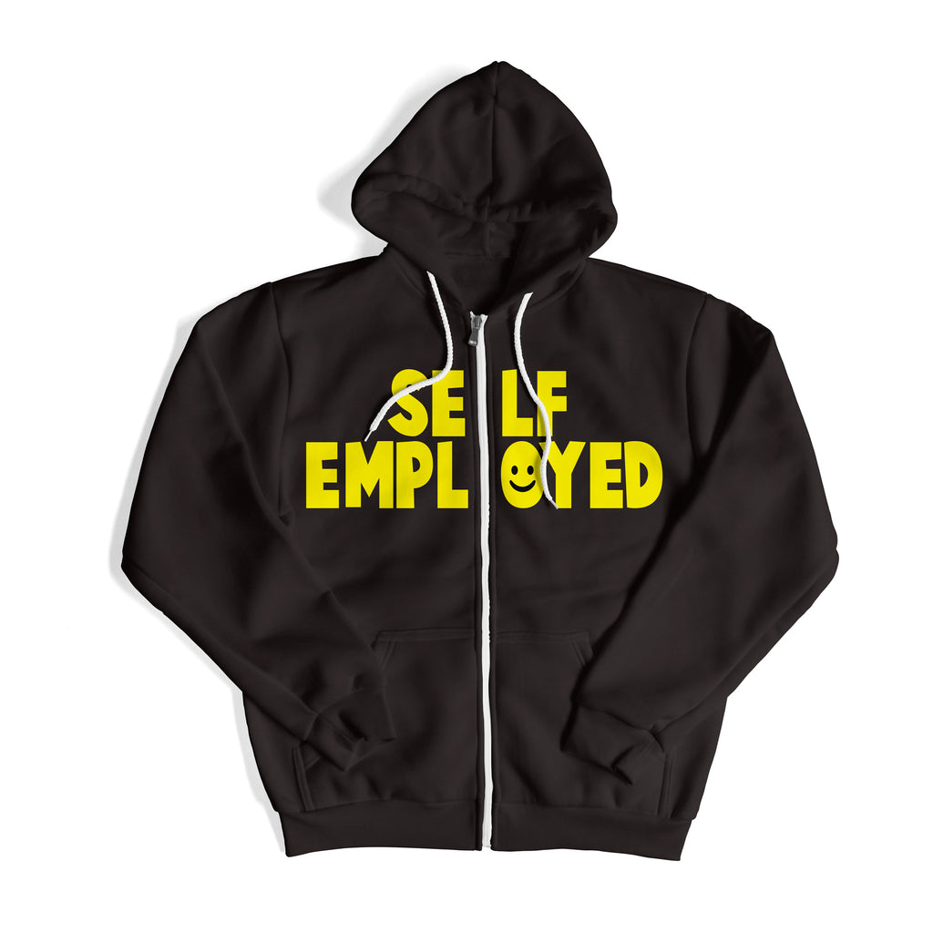 """SELF EMPLOYED"" BLACK HOODIE"