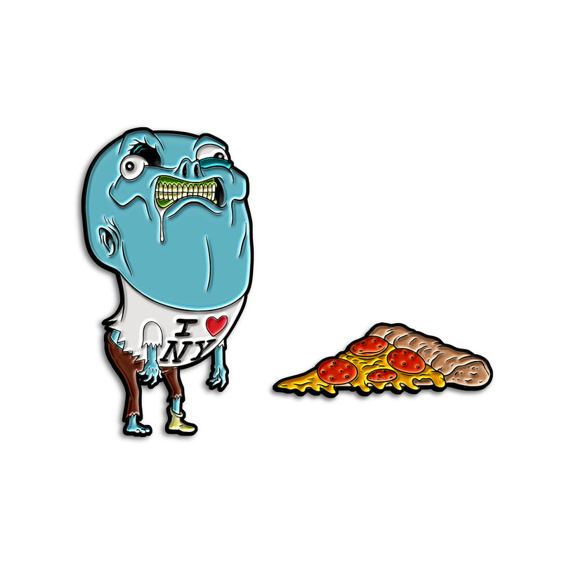 """UH-OH, NO PIZZA"" PIN SET"