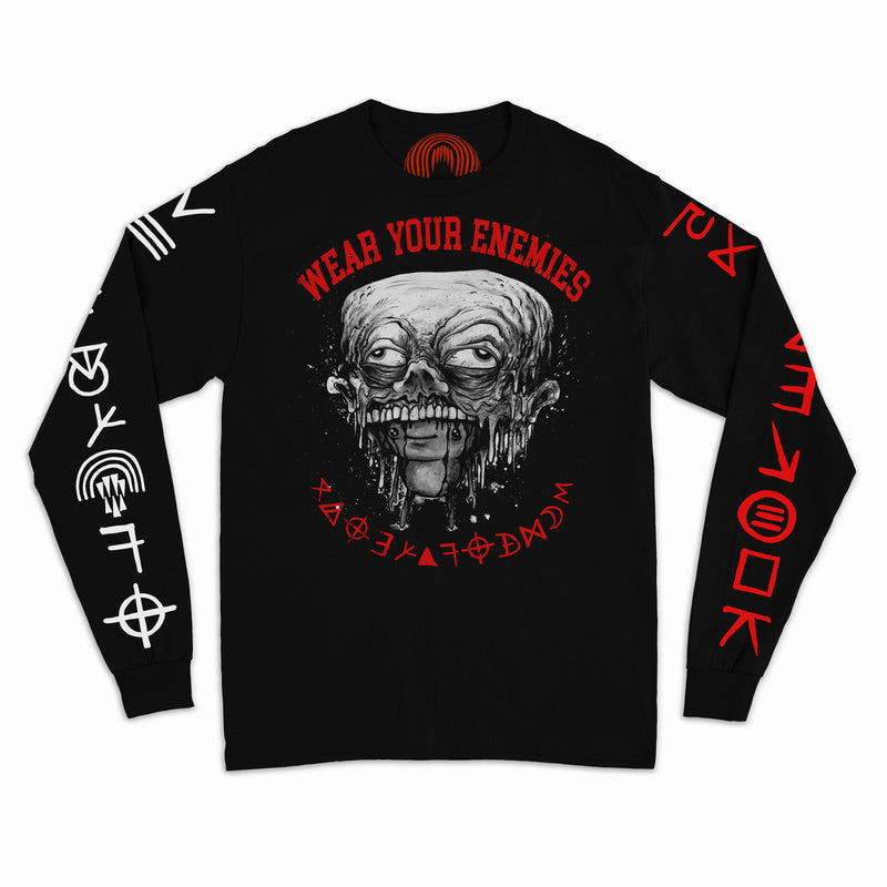 """WEAR YOUR ENEMIES"" LONG SLEEVE T-SHIRT"