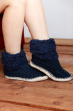 Navy Slippers - Lily Wings - 2