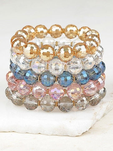 STUNNING CRYSTAL LAYERING STRETCH BRACELET