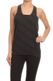 Racerback Activewear Tank Grey - Lily Wings - 2
