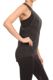 Racerback Activewear Tank Grey - Lily Wings - 3