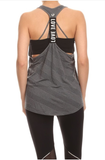 Racerback Activewear Tank White - Lily Wings - 4