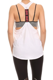 Racerback Activewear Tank White - Lily Wings - 1