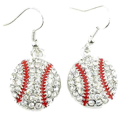 Baseball fishhook Earrings - Lily Wings