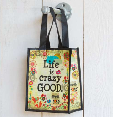 """Life Is Crazy Good"" Recycled Gift Bag - Lily Wings"
