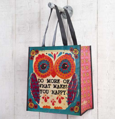 """What Makes You Happy"" Large Recycled Gift Bag - Lily Wings"