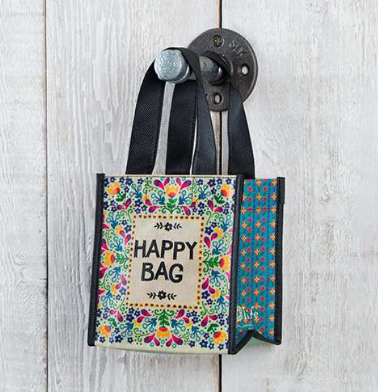 """Happy Bag"" Small Recycled Gift Bag - Lily Wings"