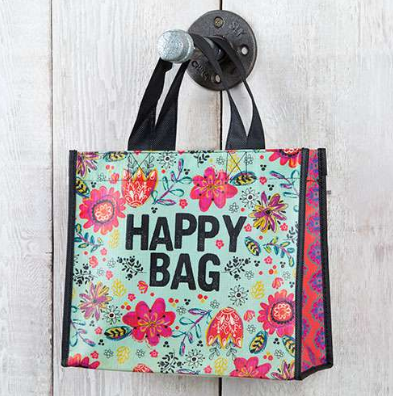 "Turquoise ""Happy Bag"" Medium Recycled Gift Bag - Lily Wings"