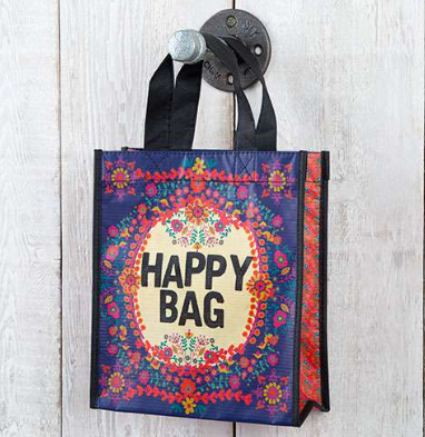 "Purple ""Happy Bag"" Medium Recycled Gift Bag - Lily Wings"