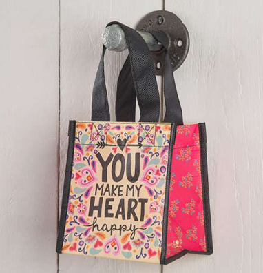 """You Make My Heart Happy"" Small Recycled Gift Bag - Lily Wings"