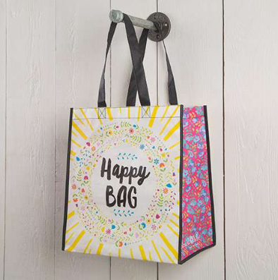 """Happy Bag"" Large Recycled Gift Bag - Lily Wings"