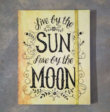 "Journals ""Live by the Sun Love By The Moon"" - Lily Wings"