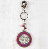 Don't Look Back Glitter Key Chain - Lily Wings - 1
