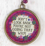 Don't Look Back Glitter Key Chain - Lily Wings - 2