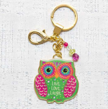 Glitter & Gold Key Chains Live Love Laugh - Lily Wings - 1