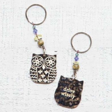 Token Key Chains Owl/Drive Wisely - Lily Wings