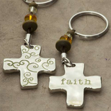 Faith Token Keychain - Lily Wings - 2