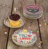 Happy Birthday Mini Melamine Plate - Lily Wings - 2