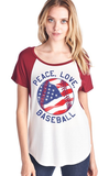 peace, Love, Baseball - Lily Wings - 1