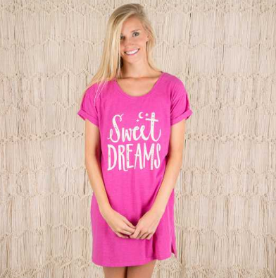 "Pink ""Sweet Dreams"" Night Shirt - Lily Wings - 1"