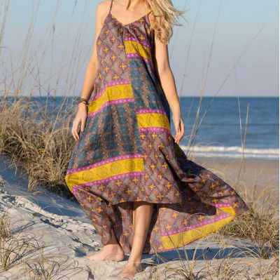 Medallion Maxi Dress - Lily Wings - 1