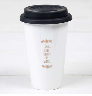 """This Might be Wine"" Thermal Mugs - Lily Wings"