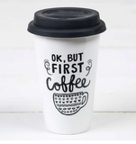 """OK, But First Coffee"" Thermal Mug - Lily Wings - 2"